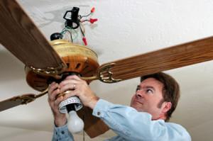 Electrician Removes Ceiling Fan Mennifee
